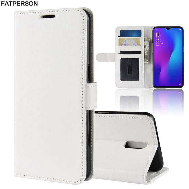 Multi-function Soft Wallet Smart Cover For OPPO R17 Leather Phone Case For OPPO R17 Luxury PU Phone Bracket Case 6.4 Inch Capa