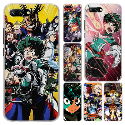 My Hero Academia Transparent Frame Hard Phone Case Cover For Huawei Honor 8 9 Lite 10 10 Lite 6X 7X 7S 4C 6C Pro
