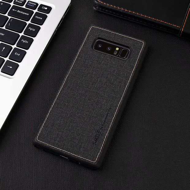 New Linen Phone Case For Samsung Galaxy Note8 All-inclusive Scrub Soft Back Cover For Samsung Note8/N9500 Phone Shell Coque Capa