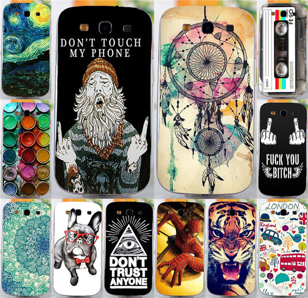Newer Don't Touch My Phone Dreamchatcher Happy London Hood Phone Case Cover Shell For Samsung Galaxy S3 SIII I9300 Cases Covers