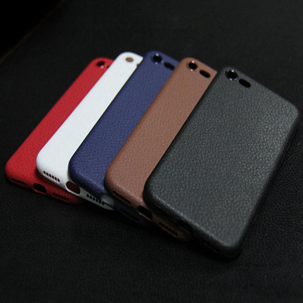 OLLIVAN For Iphone 7 6 Luxury Leather Case Soft Silicone Back Cover For Iphone 6 6s 7 Plus Business Cover For Man Coque Fundas