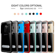 OTAO Shockproof Holder Phone Case For Samsung S9 S8 S7 S6 Edge Plus A3 A5 J3 J5 J7 Note 4 5 8 Bracket Cases Kickstand Back Cover