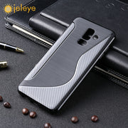 Ojeleye Soft Case For Samsung A6 Plus Case Silicone Brushed Funda For Samsung Galaxy A6 Plus Cover SLine Bags Non-Silp A6Plus