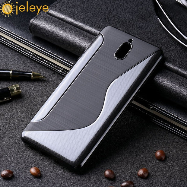 Ojeleye Soft TPU Case For Nokia 3.1 Case Silicone Brushed Funda For Nokia 3 2018 Nokia3.1 Cover SLine Bags Non-Silp 5.2 Inch