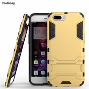 Oppo R10 Case Anti-Knock Robot Phone Stand PE + TPU Cover Case For Oppo R10 Cover For Fundas Oppo R10 Coque 5.5 Inch