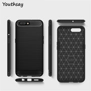 Oppo R10 Plus Case Soft Carbon Fiber Slim TPU Anti-knock Phone Case For Oppo R10 Plus Phone Cover For Case Oppo R10+ 6 Inch
