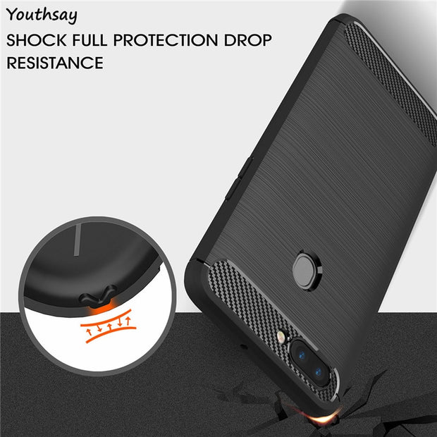 Oppo R11s Case Soft Carbon Fiber Slim TPU Anti-knock Phone Cover Case For Oppo R11s Cover OppoR11s Case 6.01 Inch Fundas Shell