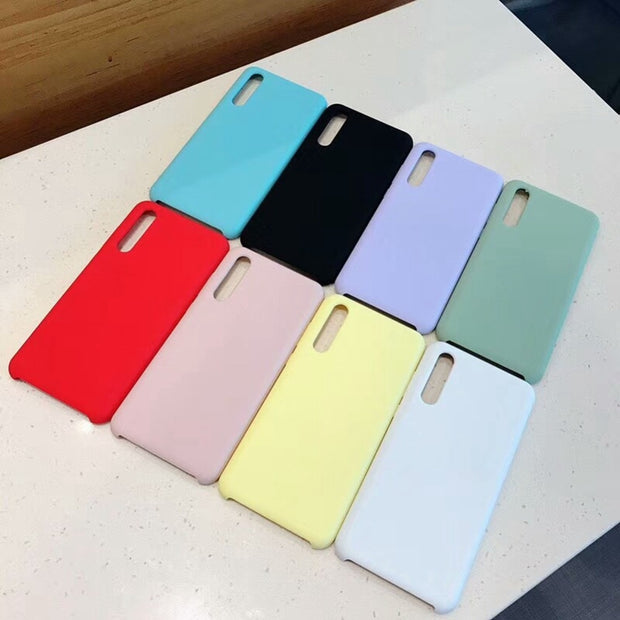 Original Case For Xiaomi Redmi Note 6 Pro Pocophone F1 Case Full Protection Silicone Cover For Xiaomi Mi 8 SE A2 6X Candy Color