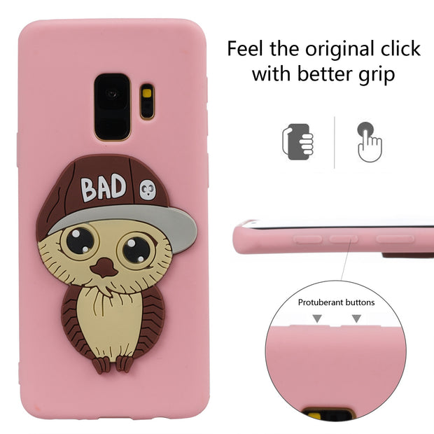 Owl Pattern For Samsung S9 Case Silicone Marble Phone Cover For Samsung Galaxy S9 Luxury Soft TPU Shiny Back Fundas