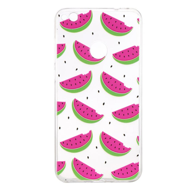 P8Lite 2017 Soft Silicone Case For Huawei P8 Lite 2017 Back Cover Unicorn Fruit Giraffe Skin Gel Case Etui Coque Capinha Hoesjes