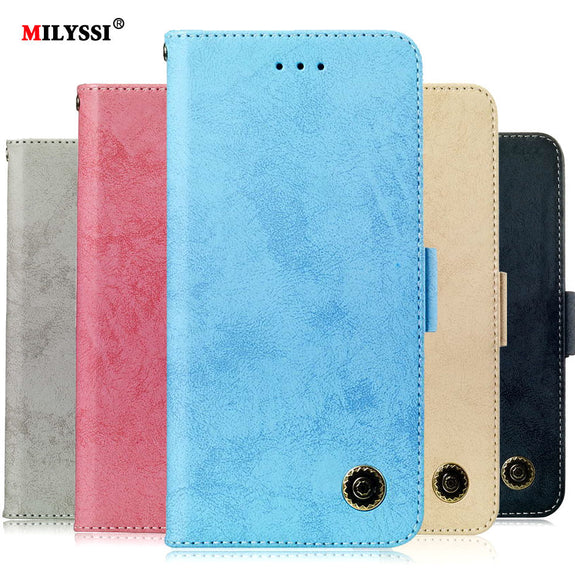 a5a7e132beb PU Leather Flip Case For Samsung Galaxy J6 2018 Plus Wallet Cover For