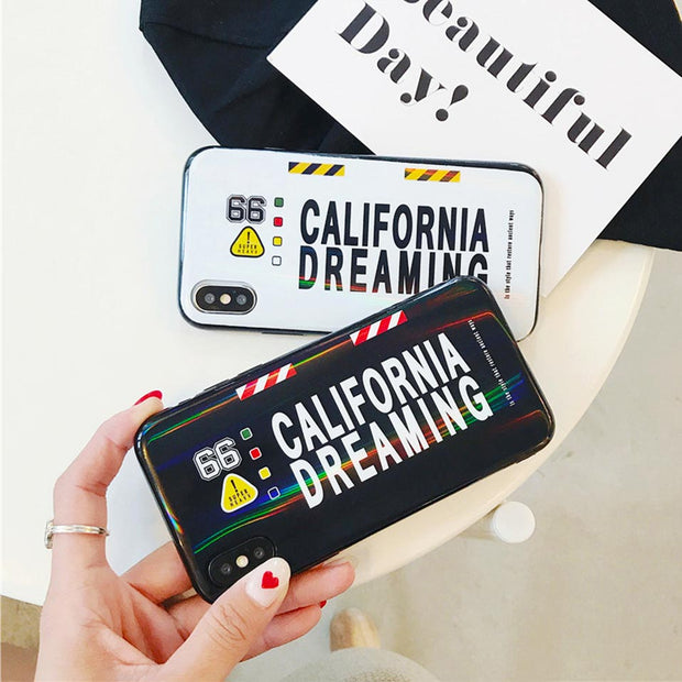 Personality Letter Phone Case For IPhone 6 6S 7 8 Plus Drop-proof Back Covers Funda For Iphone 6 6S 7 8 For IPhone X XR XS MAX