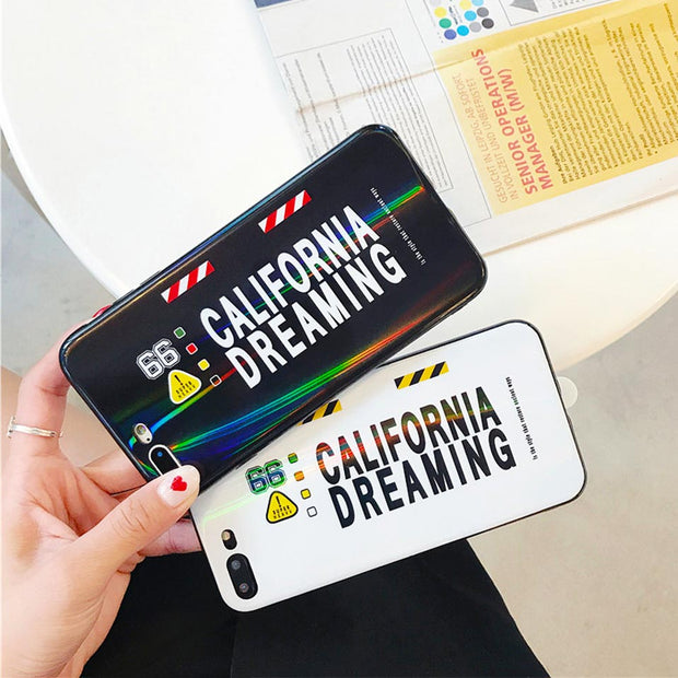 Personality Letter Phone Case For IPhone 6 6S 7 8 Plus Funda For Iphone 6 6S 7 8 For IPhone X XR XS MAX Drop-proof Back Covers