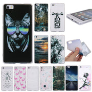 Phone Case For Huawei P8 Lite Back Cover For Coque Huawei P8 Lite Silicone Etui For P8Lite Cases Unicorn Scenery Hoesje Capinhas
