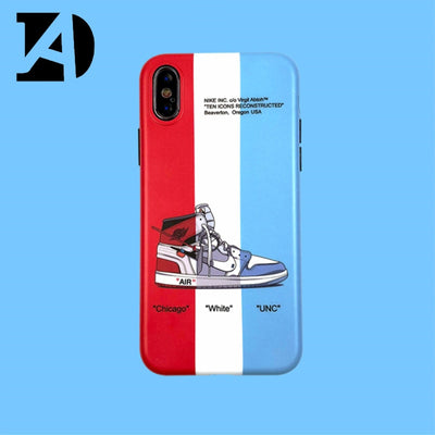Phone Case For Iphone X XS XR MAX Trend New Off Air Jordan AJ1 Ow For Iphone 6 6S 7 8 Plus Limited White Sport Shoes Soft Cover