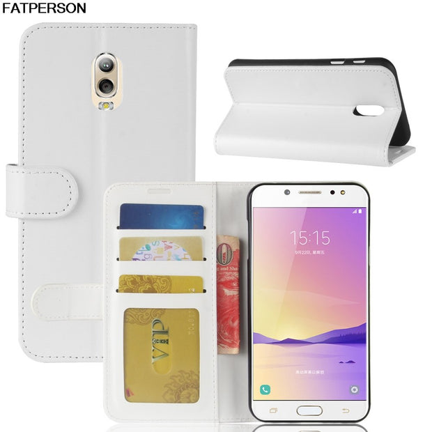 Phone Case Wallet For Sumsung Galaxy C7 2017 SM-C710F Leather Luxury Case Phone Case For Galaxy Galaxy J7+Bracket Smart Cover