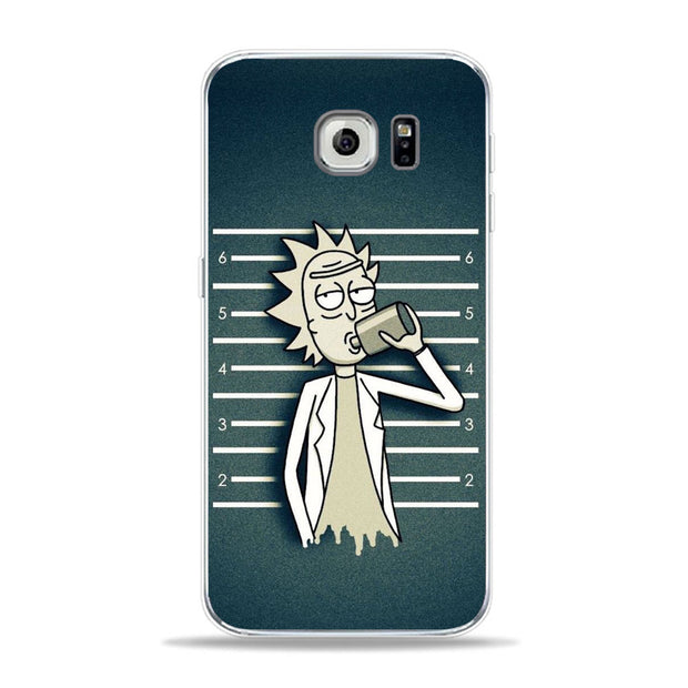 Popular American Drama Cartoon Anime Rick And Morty Phone Case For Samsung S6 S7 Edge S9 S8 Plus A6 2018 J5 J7 Cover For A5 2017