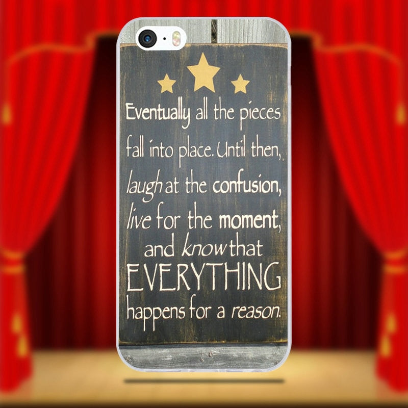 Positive Mentality Bible Verse Brave Quotes Soft Silicone TPU Phone Cases  For IPhone 6 6S 7 8 Plus 4 4S 5 5S 5C SE X Shell
