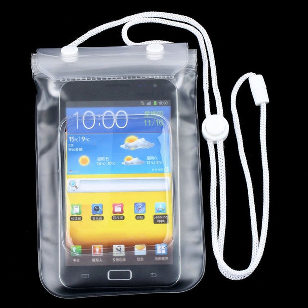Protable Pouch Waterproof Dry Pouch Mobile Phone Bag Case Cover For Various Cell Phone PDA Transparent