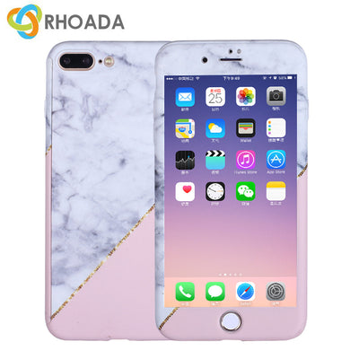 RHOADA For Iphone 6 Case Pink & Purple Marble Pattern Back Cover PC For Iphone 7 Case Jade Pattern For Iphone 8 Case