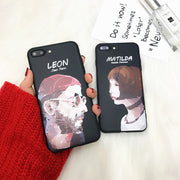 Rerto Oil Painting Lovers Phone Case For Iphone X Case For Iphone 6S 6 7 8 Plus Back Cover Fashion Cool Cartoon Soft Cases Capa