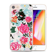 Rose Floral Pastel Leaves Phone Cases Cover For Apple IPhone 7 8 6 6S Plus SE 5S X XR XS MAX Protector Hard Cover Case