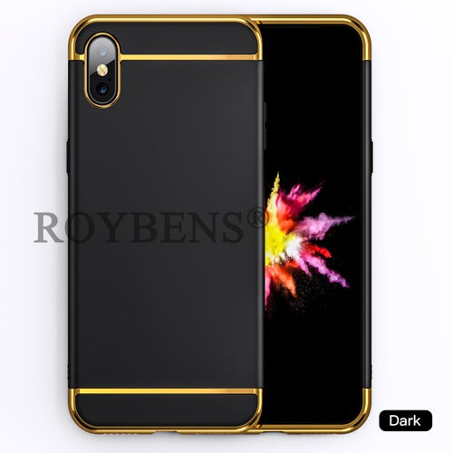 competitive price 2cb80 c50f7 Roybens For IPhone X 10 Phone Cases For IPhone 7 Plus Case For IPhone 6 6S  Plus Case 3 In 1 Luxury Hard Full Protect Slim Matte