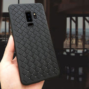 S9 Plus Case For Samsung Galaxy S9 Luxury Silicone Leather Skin Matte Vintage Coque Black Case For Samsung Galaxy S9 Plus Cases