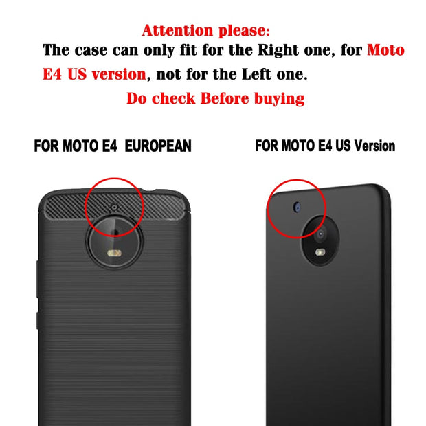 SENSUELL Phone Cases For Motorola Moto E4 USA Version Cover Silicon Hosuing Phone Shell Skin Protective Shell