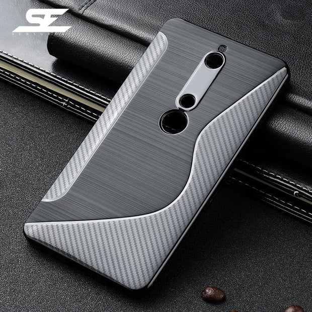 SENSUELL Silicon Cases For Nokia 6 2018 Case Anti-knock Ultra Thin Cover For Nokia 6 TA-1000 Covers Phone Bag Cover