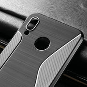 SENSUELL Silicon Phone Case For Huawei Honor Play Case COR-AL00 Anti-knock Ultra Thin Soft TPU Plain Back Cover Protective Shell