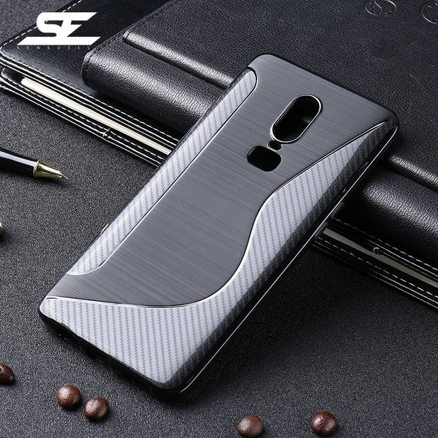 SENSUELL Silicon Phone Cases For OnePlus 6 Case Anti-knock Ultra Thin Soft TPU Back Cover For OnePlus 6 Cover Protective Shell
