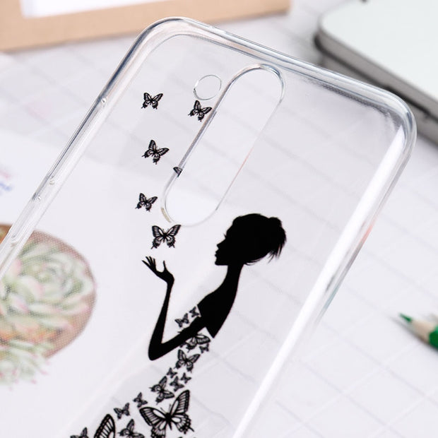 SENSUELL Silicone Case For Huawei Mate 20 Lite Case Anti-knock Soft TPU Back Cover Painted Transparent Protective Shell Bag