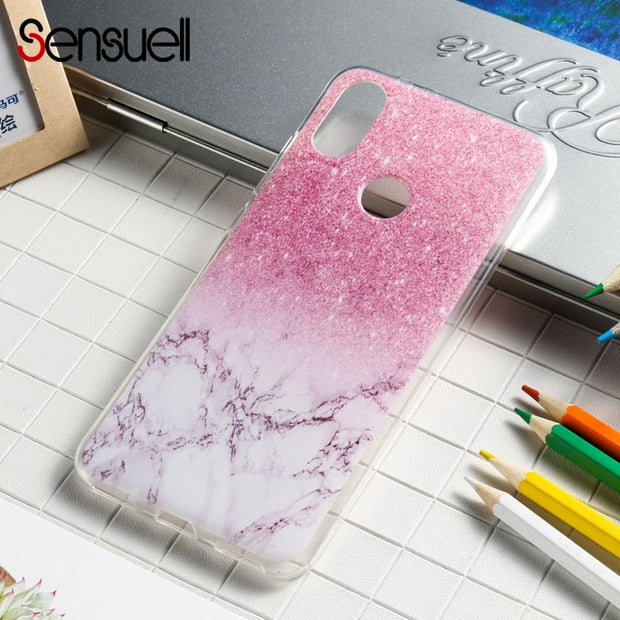 SENSUELL Silicone Case For Xiaomi 6X Case Mi 6X Mi A2 Anti-knock Soft TPU Back Cover Painted Transparent Protective Shell Bag