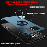 SHUOHU Ring Holder Phone Bag Case For Samsung Galaxy S7 Edge Case Luxury Hybrid Cover For Samsung Galaxy S8 Plus Note 8 Cases