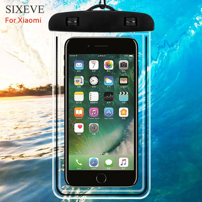 SIXEVE IPX8 Waterproof Case For Xiaomi Redmi Note 5 4X 4 3 3S 5a 6 Pro Prime S2 4a 6a Mi5s Plus Mi Mix2s Max 3 2 A1 A2 Lite 6X 8