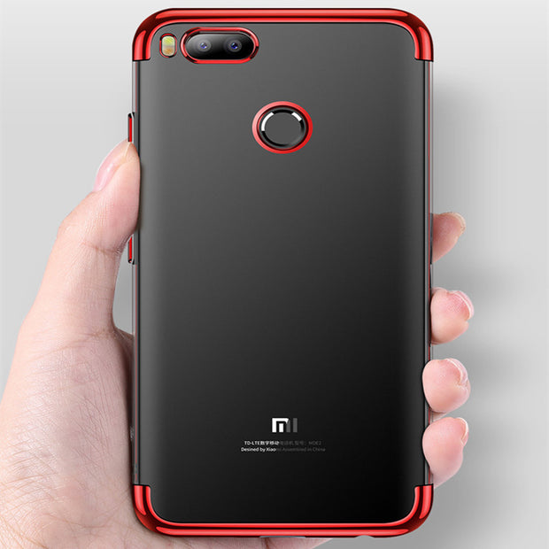 SPCASE Luxury Transparent TPU Phone Cases For Xiaomi 6 5X Redmi Note 4X Redmi Note 5A Soft Mirror Shockproof Back Cover Capa