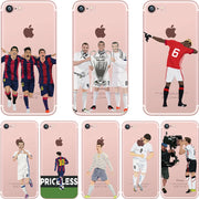 SPCASE Soccer Soft Cases For IPhone X Transparent Football Star Picture Silicon Cover For IPhone 8 Plus 7 Plus 6S Plus 6 Plus