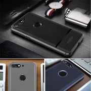 SRHE For Huawei Honor 7A Pro Case Cover Litchi Leather Carbon Fiber Soft Silicone Full Back Cover For Huawei Honor 7A Pro 7APro