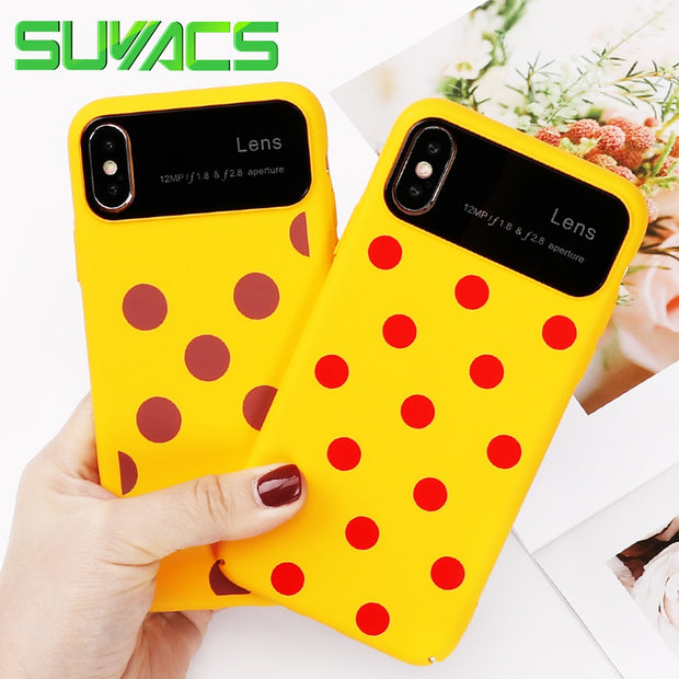 SUYACS For IPhone 6 6S 7 8 Plus X Wave Point English Words Quotes Phone Cases All-inclusive Hard PC Shell Coque Cover Bag YC4258