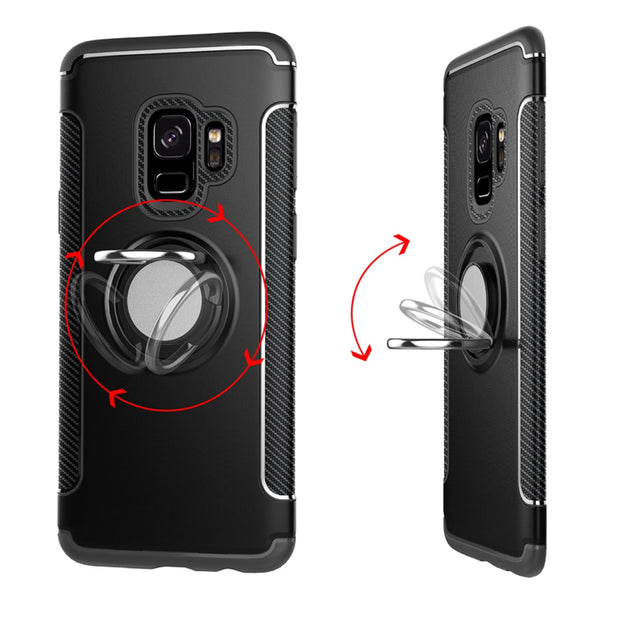 Shockproof Case For Samsung Galaxy Note 9 J4 J6 J8 2018 A6 S9 Plus J2 Pro A8 Star Note 8 A9 Lite Holder Stand Finger Ring Cover