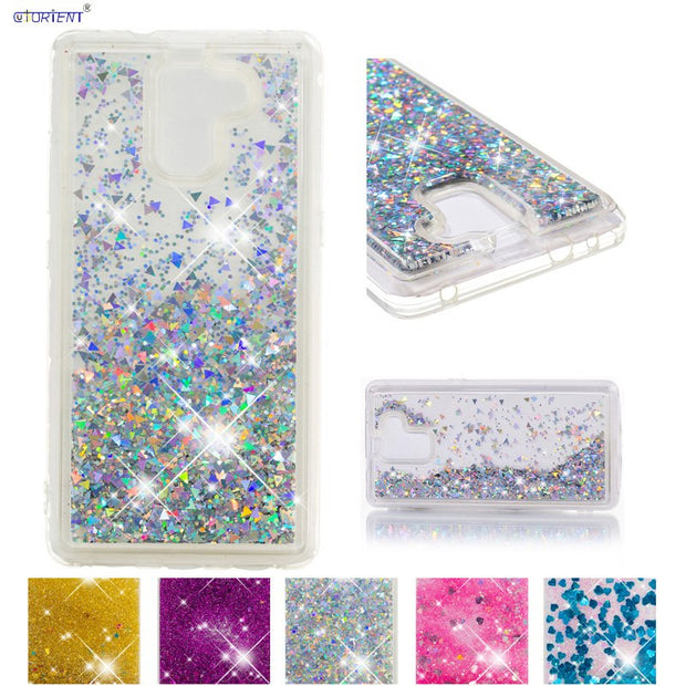 Silicone Case For Huawei Honor 7 Glitter Liquid Case For Huawei Honor7 PLK-CL00 PLK-UL00 PLK-AL10 PLK TL00 TL01H L01 Phone Cover
