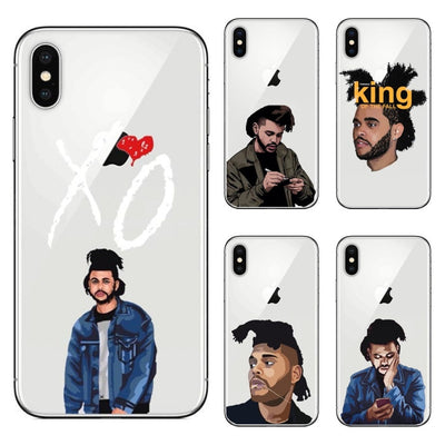 Singer The Weeknd Phone Case For IPhone X 7 8 8 Plus XS Max XR 6 6S Plus 5 5S SE Starboy XO Soft Silicone TPU Cover Bag Capa
