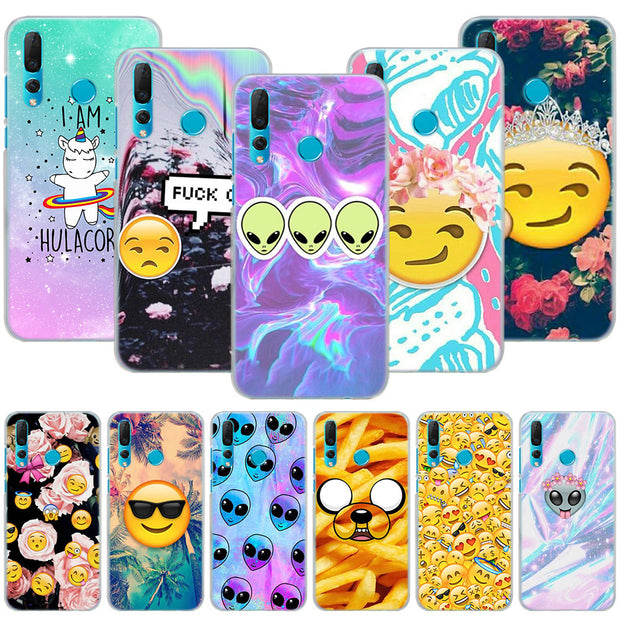 Smile Faces Emoticon Emoji Phone Case Cover For Huawei Nova 2i 3 3e 3i 4 Mate 10 20 Lite P20 Pro P20 Lite Hard PC Phone Cases