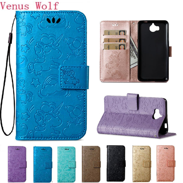Soft Flip Coque For Huawei Y5 2017 MYA-L22 Case Luxury Flip Wallet PU  Leather Cover For Huawei Y 5 Y5 III MYA L22 L23 Phone Bag