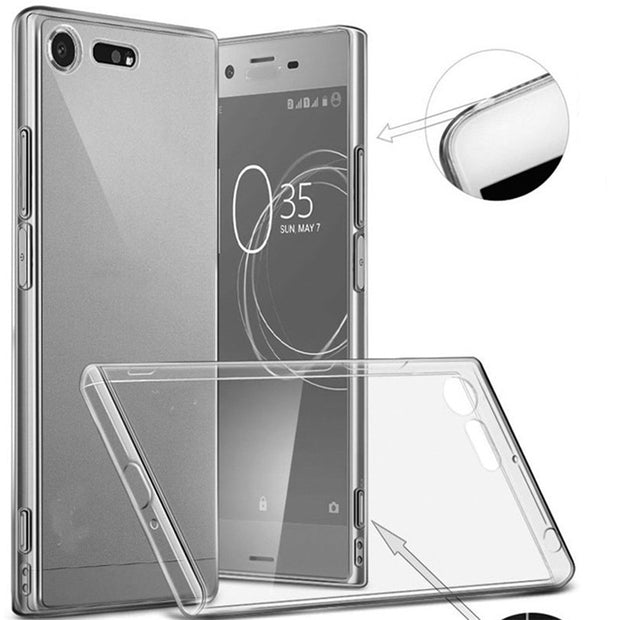 Soft Silicone Clear TPU Cover Case For Sony Xperia XZ3 XZ2 XZ1 Compact Premium XA2 Ultra XA1 Plus L2 Transparent Cover Shell