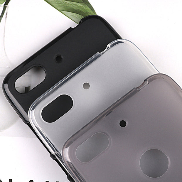 Soft Silicone Phone Cases For ZTE V18 TPU Back Cover Pudding Case Capa Fundas Black