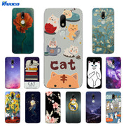 Soft Silicone For Motorola Moto M XT1662 TPU Back Cover Cat Landscape Printing Phone Protective Case Ultrathin For Moto M Shell