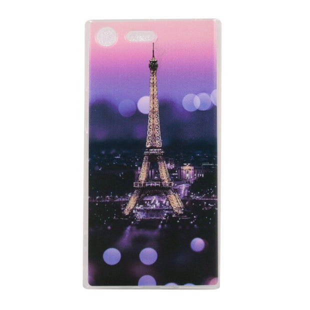 Soft TPU Case For Sony Xperia XZ Case For Coque Sony Xperia XZ Premium Cover Silicon Gel Phone Case Cover Landscape Etui Capinha