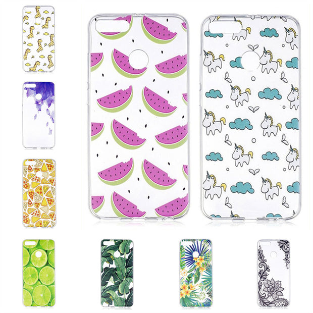 Soft TPU Case For Xiaomi Mi A1 Mi5X Cases For Coque Xiaomi 5X A1 Phone Case Back Cover Silicon Gel Fruits Unicorn Etui Hoesjes